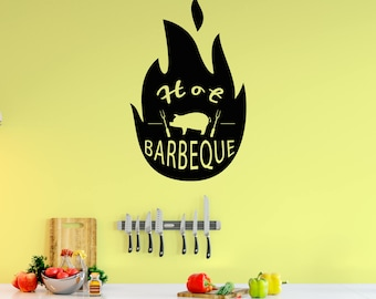 BBQ Wall Decal, Barbecue, Free Shipping