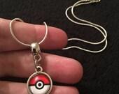 80p UK PP Pokeball necklace Pokemon Go Pokeball Necklace Pendant Charm Pikachu Valor Mystic Instinct Moon