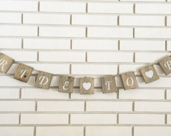 Rustic Bride To Be Bridal Shower Banner