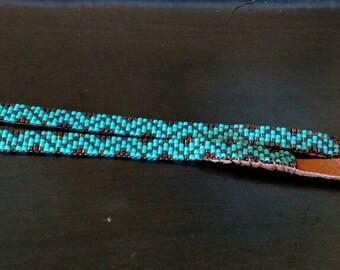 Narrow Turquoise Hatband