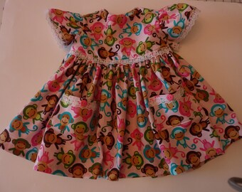 Happy Monkeys Toddler Dress