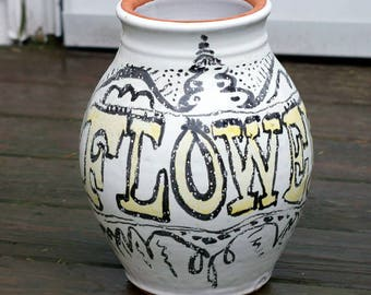 Vintage Clay Indoors/Outdoors Pottery Crock/Vase/Planter
