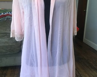 Dreamy vintage 1960's baby pink nightie cover up