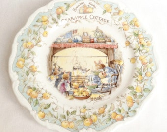 Crabapple Cottage plate - Brambly Hedge - one of the Homes and Workplaces series plates - Royal Doulton