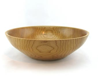 Cherry salad bowl. Finish  with oil  14 1/2 in in diameter by 4 1/4 in. in height Item 429