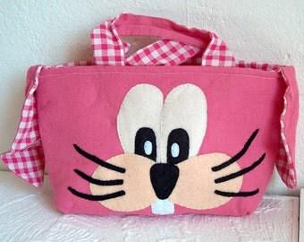 Easter bag rabbit pink
