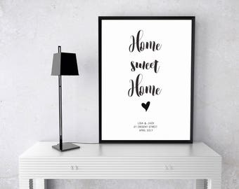 Home Sweet Home Personalised Print