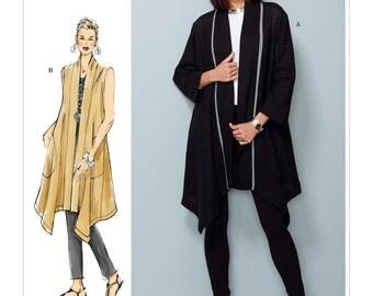 Vogue Sewing Pattern V1540 Misses' Banded Coat and Vest