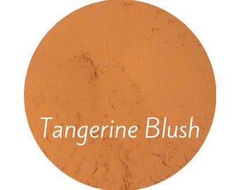 Peach Blush Natural Makeup | Orange Blush | Organic Cosmetics | Vegan Makeup | Tangerine Makeup | Terracotta Blush