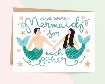 Mermaid For Each Other Greeting Card
