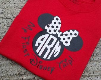 I'm going to disney! Disney world. Monogram minnie mouse tee