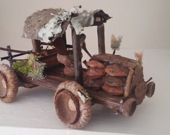 Fairy garden truck car, vehicle handcrafted