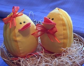 Stuffed chicks, Baby chicks, Easter chicks, Baby shower gift
