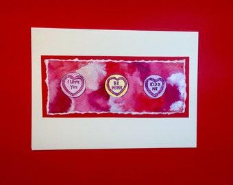3 Love Hearts card