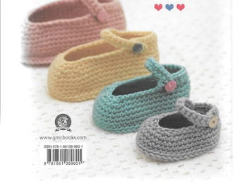 Baby booties and slippers - 30 designs to stitch, knit and crochet - by Susie Johns