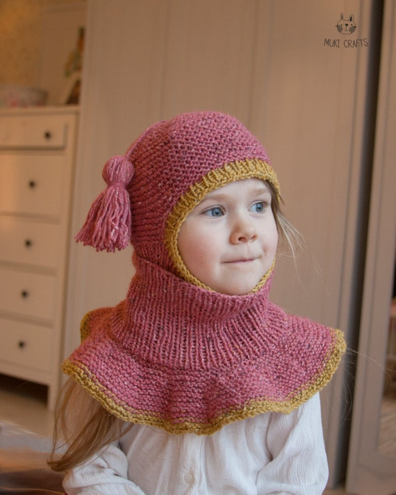 Knitting Pattern Of Baby Balaclava : KNITTING PATTERN balaclava Sage with outer cowl baby and kids