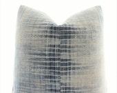 Hmong Pillow Cover Vintage, Boho Pillow, Indigo, Textile, Ethnic, Handwoven, Batik, Geometric, 18x18