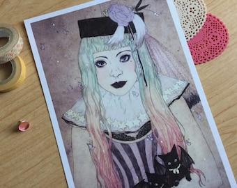Pastel Goth Princess Print