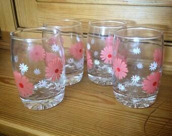 Set of Four Retro Glasses