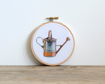 Copper Watering Can - Hoop Art Wall Decor