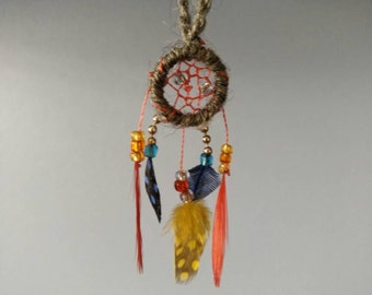 Dream catcher in miniature for houses of doll scale 1 / 12