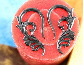 6 Gauge Stretched ears - Horn Hanging Plugs - 4 mm Gauged Plugs - 6g Horn stretch ear plugs - 4mm stretching ear *B039