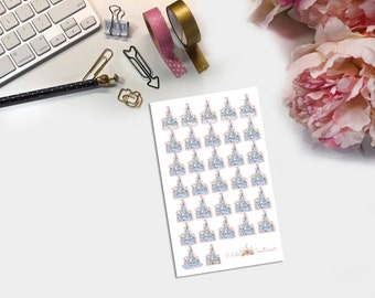 Glitter Castle Countdown Planner Sticker