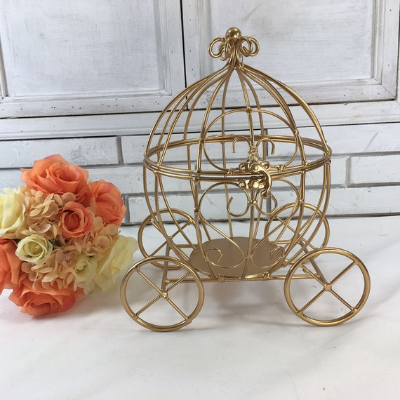 Cinderella gold carriage centerpiece