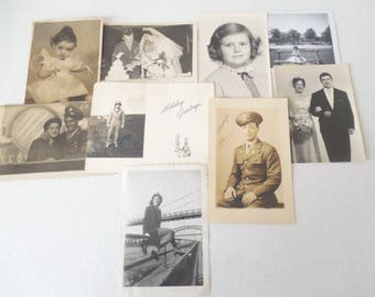 Vintage/Antique Lot of Old B&W Photographs 1940's, 50's and 60's #09//Paper Ephemera