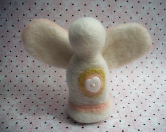 Simple Angel Figure, Handmade Gift, Needle Felted Angel, FeltWithAHeart