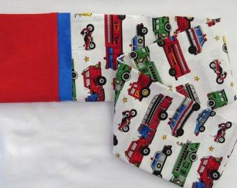 Firefighter Firemen Boy's Pillowcase, Children's Pillowcase, Kid's Pillowcase, Adult Pillowcase, Pillow cover, Cotton Pillowcase