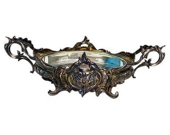 SALE! Org 595.00 Antique  Silver Plated French Style Ornate Centerpiece , Weddings, Parties,Holidays