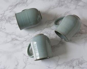 Set of Mugs / Mugs / Ceramic Mugs / 10oz Mug / Light Blue Mugs / Hostess Gift / Housewarming Gift / Mug Set / Set of Coffee Mugs