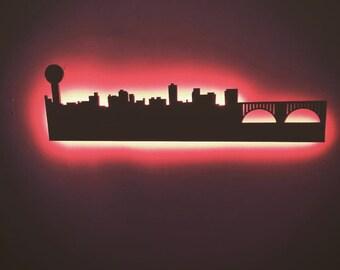 Knoxville TN City Skyline LED Sign