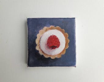 original acrylic painting, cookie painting, tiny painting, mini painting, kitchen art, small painting, small painting, original canvas,
