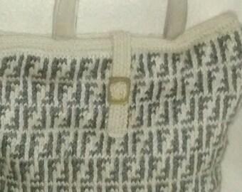 Designer Neverfull Knitted Handbag