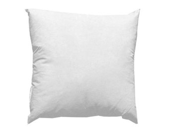 Pillow insert. Pillow form. 22x22 or 24x24  10/90  Feather Pillow form.  Decorative pillow form. Throw pillow. choose size