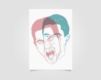 Twin Peaks Print, agent dale cooper, how's annie, wall art, art print, twin peaks art, black lodge