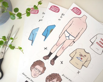 Napoleon Dynamite Paper Doll // dress up doll, DIY, geek gift