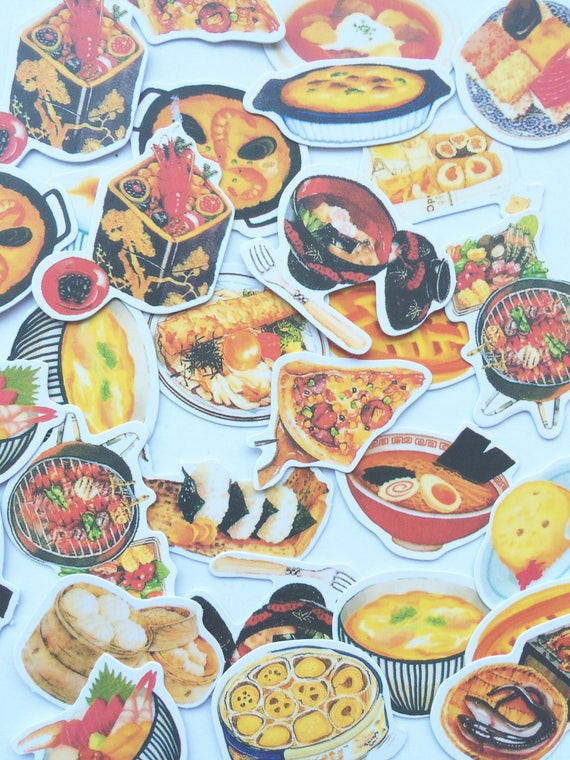 Food international cuisine stickers for scrapbooking and for Scrapbooking cuisine
