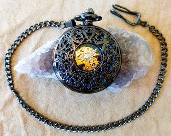 Gemini Pocket Watch - Gunmetal