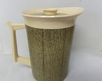 West Bend Thermo Serv Faux Wood Grain Pitcher