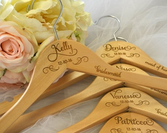 Bride Hanger, Wedding Dress Hanger, Personalized Hanger, Mrs Hanger, Bridesmaid Hangers, Wedding Hanger, Name Hanger, Bridal Hanger, Gift