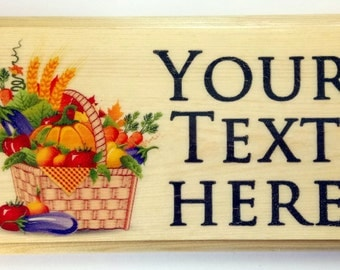 Personalised Vegetable Plaque / Sign / Gift - Allotment Grandad Garden Greenhouse Shed