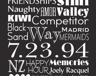 """12"""" x 36"""" Personalized Wedding Sign Bus Scroll"""