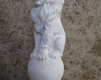Animal Lion siting on final Statue sculpture www.NEO-MFG.com 18""