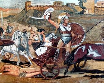 Greek Reproduction Of Trojan War Mosaic