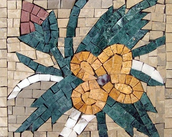 Accent Tile Mosaic Pattern- Yellow Orchid