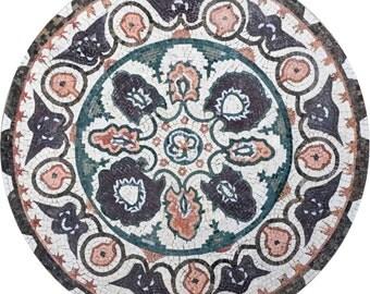 Mosaic Medallion - Botanical Spring