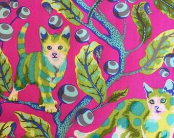 Tabby Road by Tula Pink for Free Spirit Fabrics Disco Kitty Berry Bird